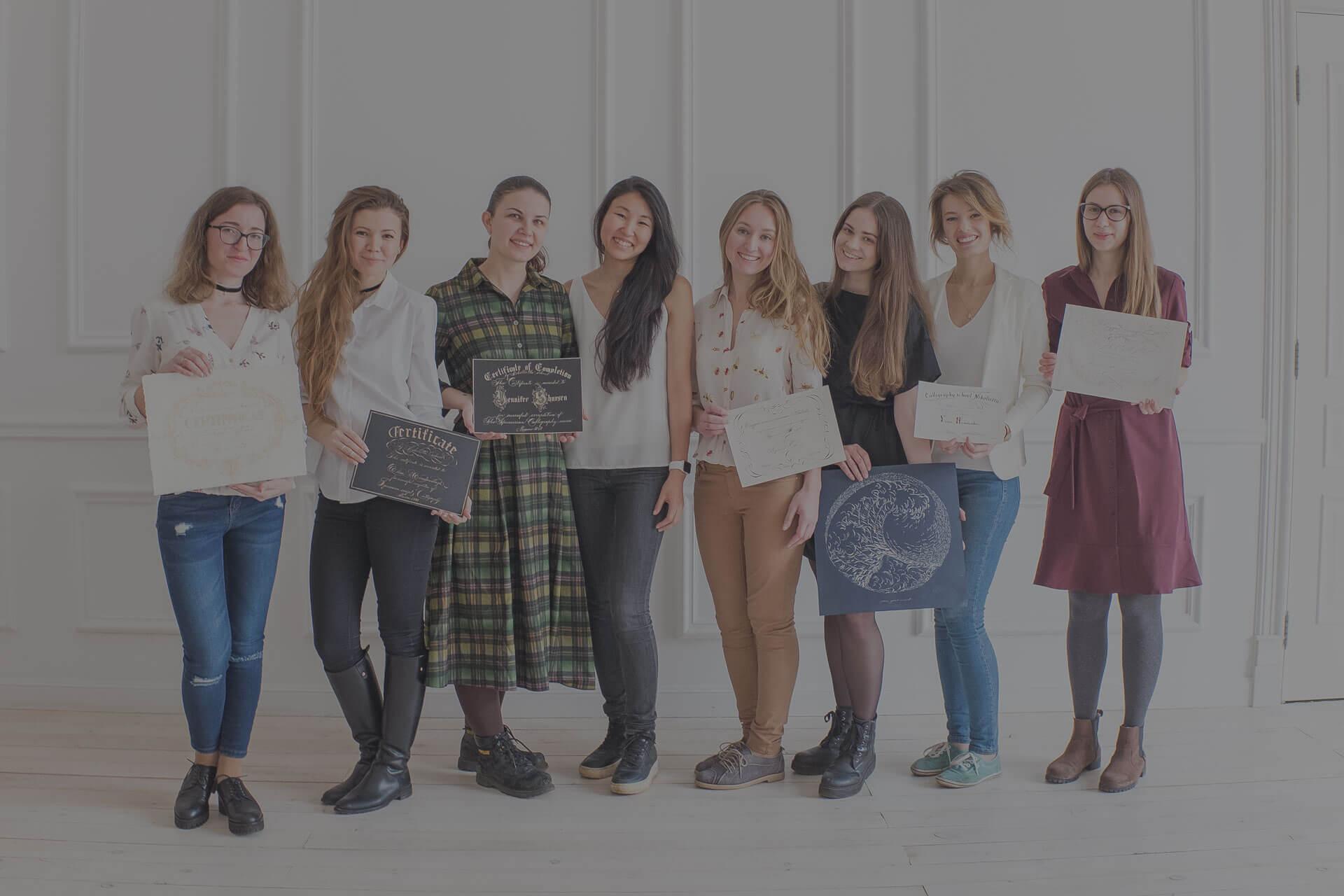 Обучение каллиграфии тонким пером в Москве
